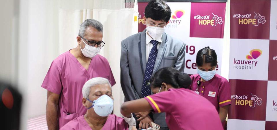 Kauvery Hospital Chennai begins Vaccination Programme for COVID-19
