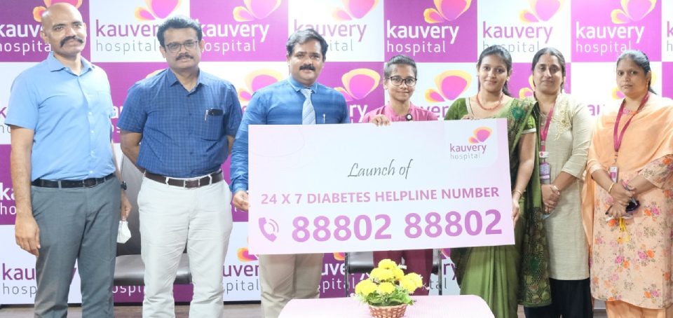 Diabetes Helpline launched at Kauvery Hospital