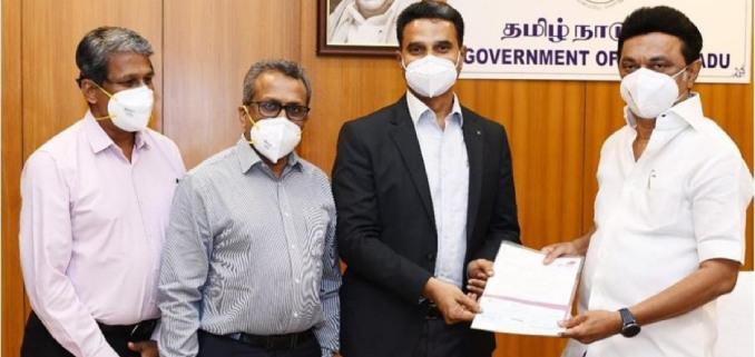 Kauvery Hospital supports Tamilnadu Government's Corona Relief Fund